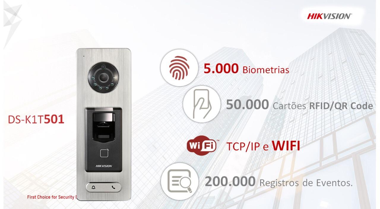Controle de acesso, vídeo porteiro e muito mais em um equipamento.
